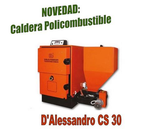 CALDERA POLICOMBUSTIBLE D'ALESSANDRO CS 30